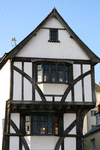 white tudor house