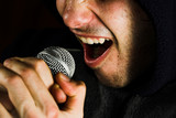 music singer and microphone poster