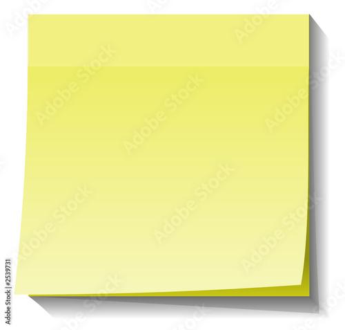 blank post-it pad