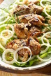 partridge with salad and onion
