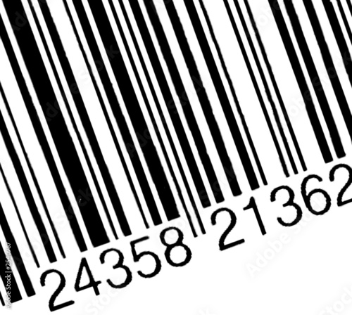 bar code on the white background