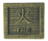 pottery with chinese fire symbol poster