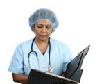 surgical nurse reviews chart poster