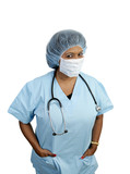 surgical scrubs poster