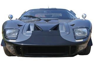 low grey american supercar