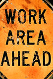 work area ahead poster