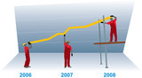 construction business growth and success graph poster