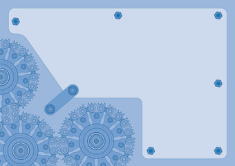 blue gearwheel background
