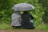 girlfriends under a umbrella poster
