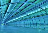 futuristic tunnel poster