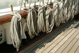 ropes and deck of ship