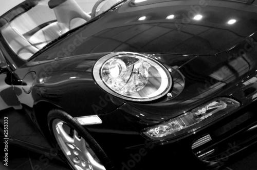 monochrone sports car