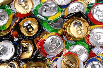 pressed beer cans