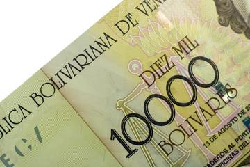 ten thousand bolivares banknote