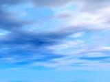 blue heavens. illustration poster