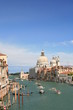 grand canal and boats in venice