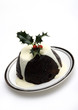 christmas pudding on a plate