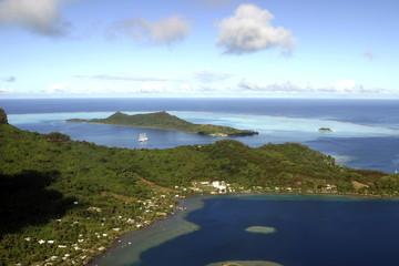 paradise view of bora bora