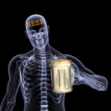 skeleton x-ray - beer poster