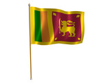 sri lanka silk flag poster