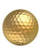goldener golfball