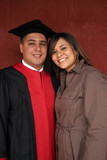 happy couple on graduation day poster