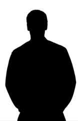 silhouette giovane uomo