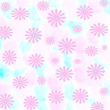 pink floral gift wrap poster