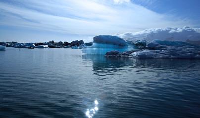 beautiful blue iceberg