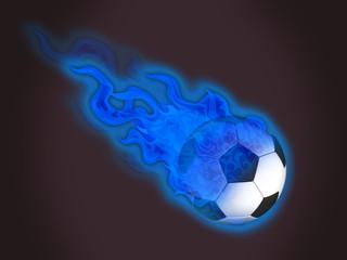 ballon en feu bleu