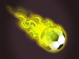 ballon en feu jaune