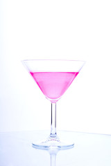 polka glass with glamour pink beverage