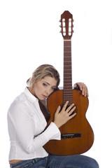 pensive guitarist