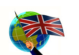 british flag with globe poster