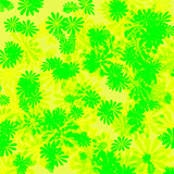 flowers yellow green wrapping poster