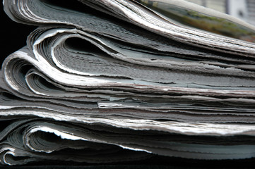 folded newpapers