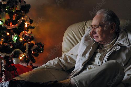 Leinwanddruck Bild christmas sadness