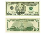 banknote 50 dollars poster