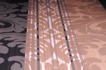 wallpaper with flower pink and black vertical lines