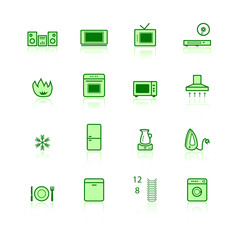 green domestic icons