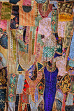 india, rajasthan, jaisalmer: embroidery poster