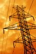 orange power line silhouette