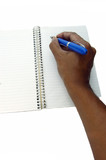 notepad and pen poster