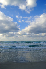 cloudy day at varadero, caribbean sea