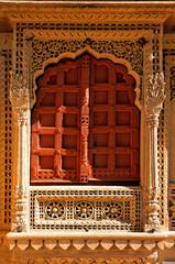 india, rajasthan, jaisalmer: jain temple