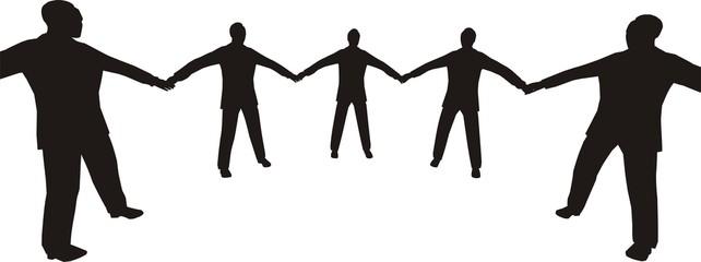 busines people circle 4