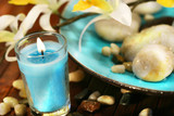 blue aromatherapy candle poster