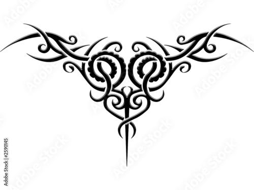 Gamesageddon Tribal Tattoo Vorlage Lizenzfreie Fotos Vektoren