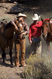 ranchers and their horses poster