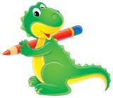 green dinosaur-